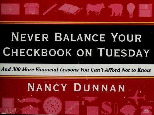 Download Never balance your checkbook on Tuesday