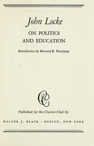 Download On politics and education.