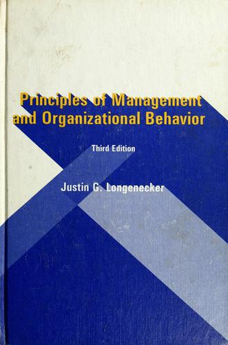 Download Principles of management and organizational behavior