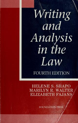 Download Writing and analysis in the law