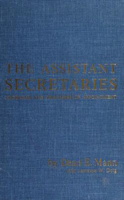 Cover of: The assistant secretaries | Dean E. Mann
