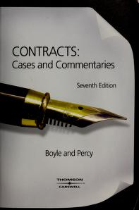 Cover of: Contracts   edited by Christine Boyle and David R. Percy.