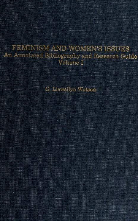 Feminism and women's issues by G. Llewellyn Watson