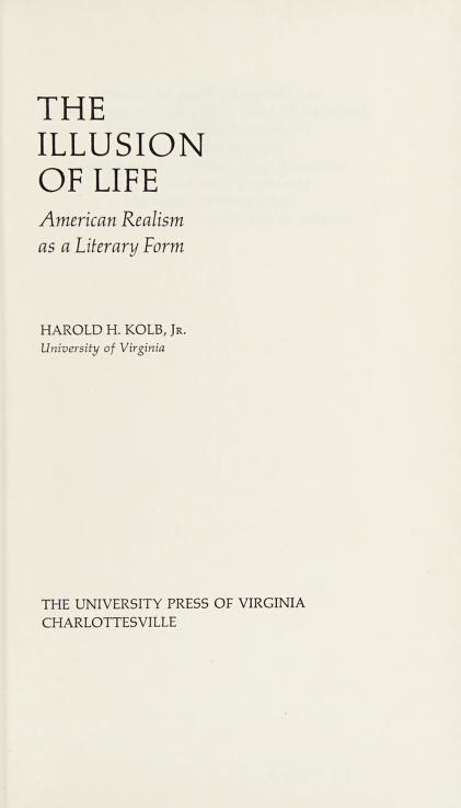 The illusion of life by Harold H. Kolb