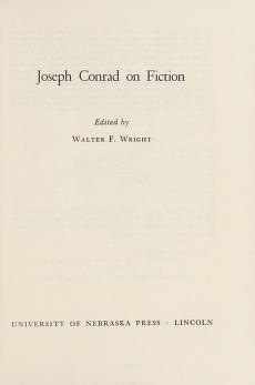 Cover of: Joseph Conrad on fiction | Joseph Conrad