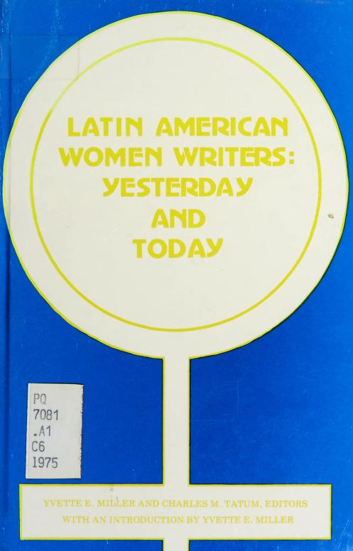 Latin American women writers by Conference on Women Writers from Latin America Carnegie-Mellon University 1975.
