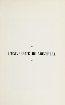 Cover of: L'Université de Montréal | Maurault, Olivier