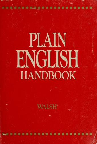 Plain English handbook by J. Martyn Walsh