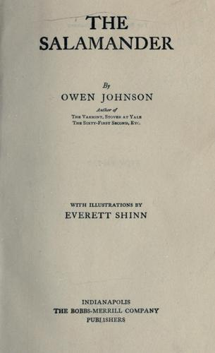 The salamander by Johnson, Owen